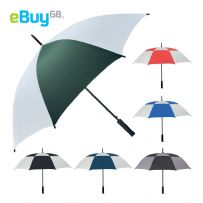 "Large 46"" Windproof Two Tone Golf Umbrella"